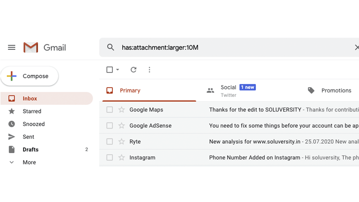 gmail-storage