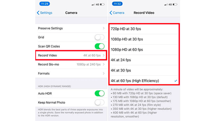 Video-Resolution-on-iPhone-XS-Max-or-iPhone-XR
